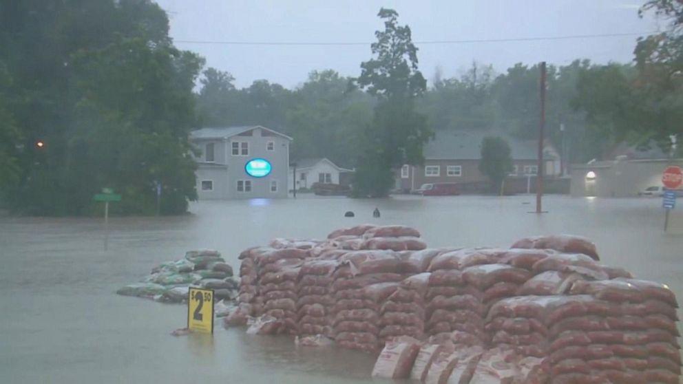 Heavy rain drenches Northeast; tropical depression to soak Carolinas