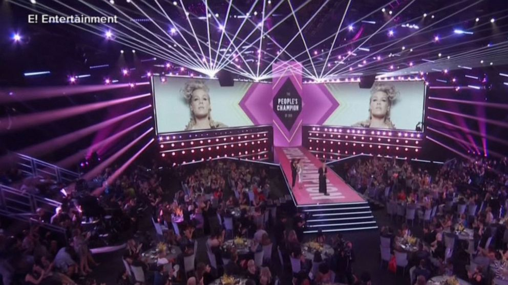 Pink delivers inspiring speech at People's Choice Awards: 'It feels powerful to help'