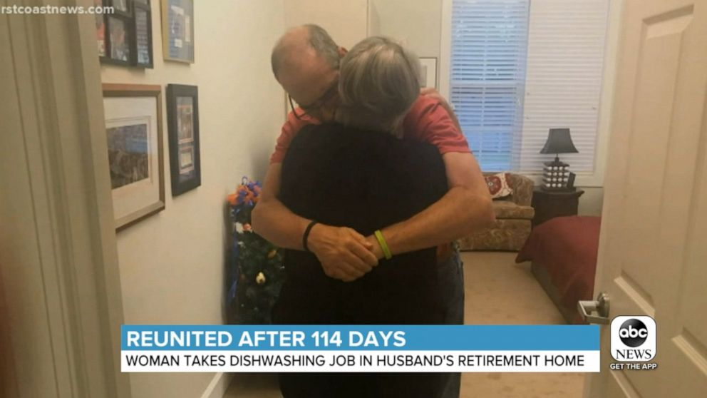 Couple reunited by wife's new job