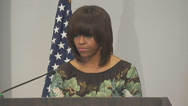 First Lady Heckled by Gay Rights Advocate