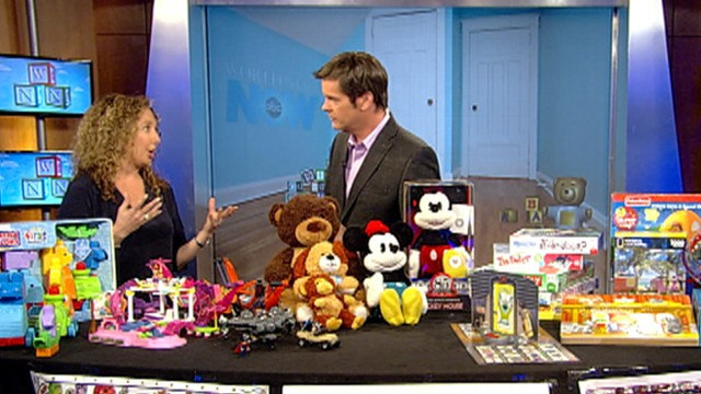 """""""Toy Insider Mom"""" Laurie Schacht shows off some toys for girls and boys."""