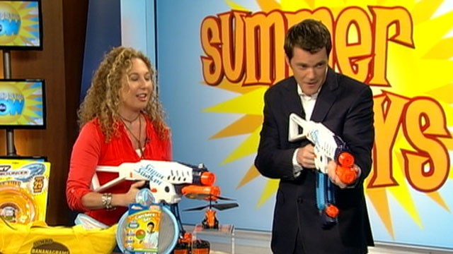 VIDEO: Laurie Schacht with plenty of toys to keep the kids smiling this summer.