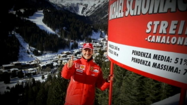 VIDEO: While skiing in the French alps, Schumacher hit his head and remains in a coma.