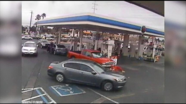VIDEO: Elderly Man Run Over at Las Vegas Gas Station