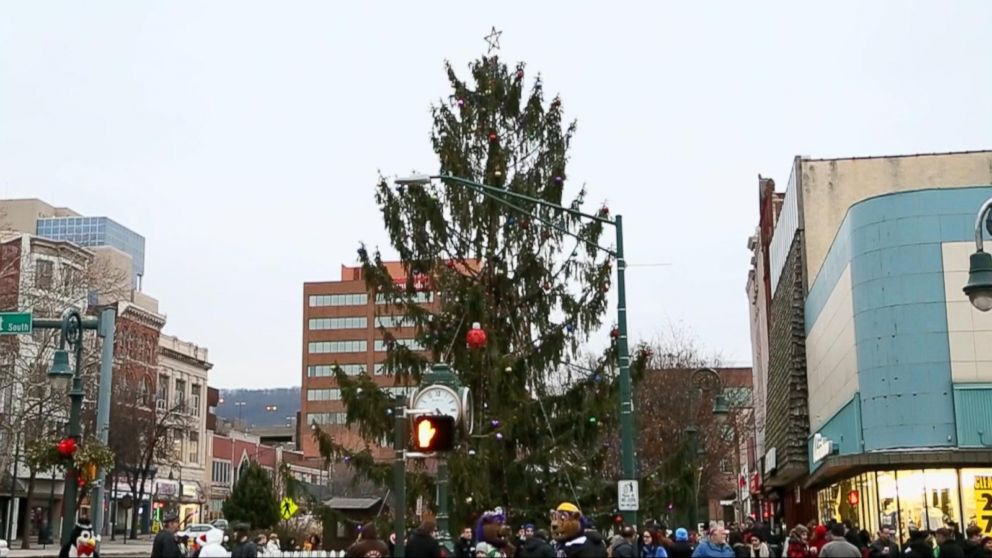 Ugly Christmas Tree.Community Comes Together To Decorate Ugly Christmas Tree