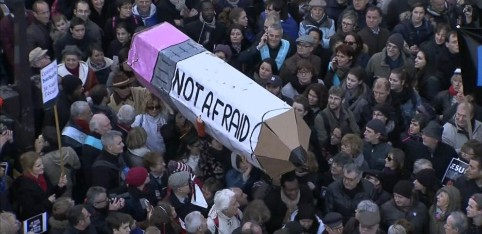 VIDEO: Paris Unites in Solidarity Against Terrorist Attacks