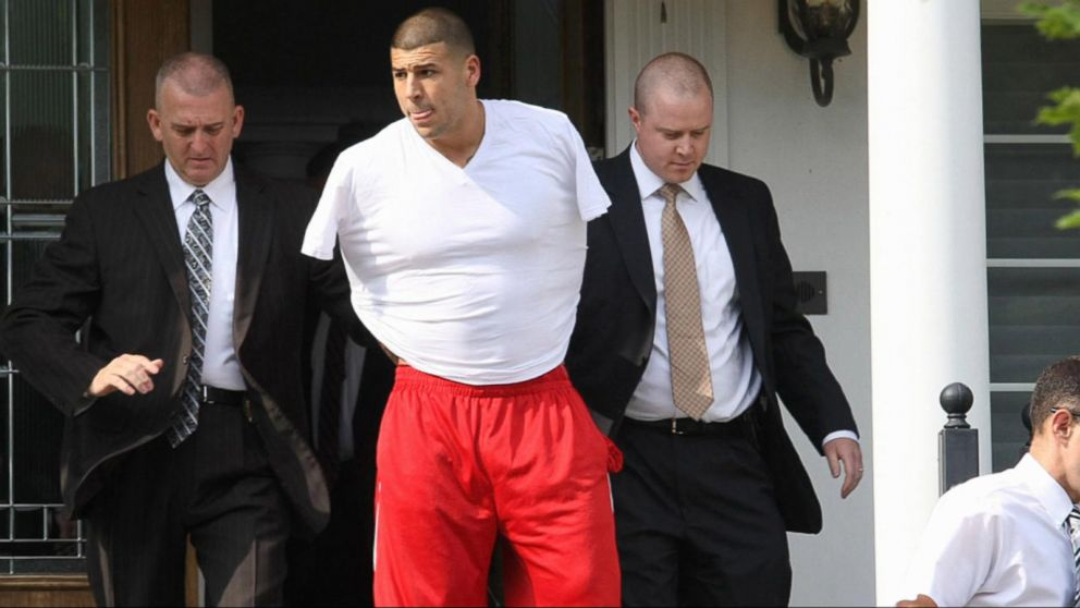 Home Surveillance Video Shows Aaron Hernandez Carrying 'Gun' After Killing