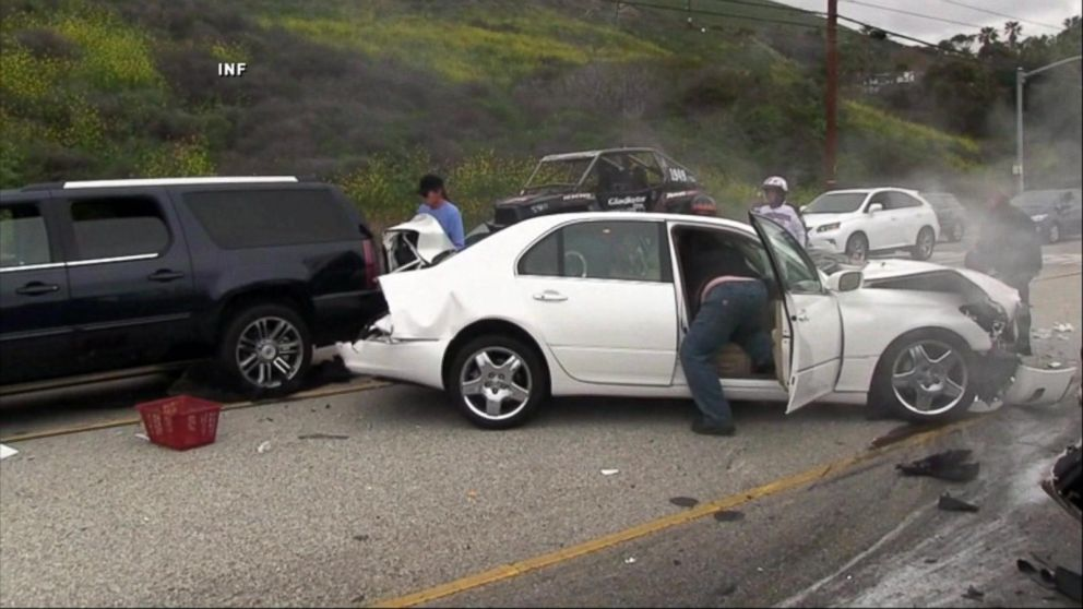 Was Bruce Jenner Texting Car Accident