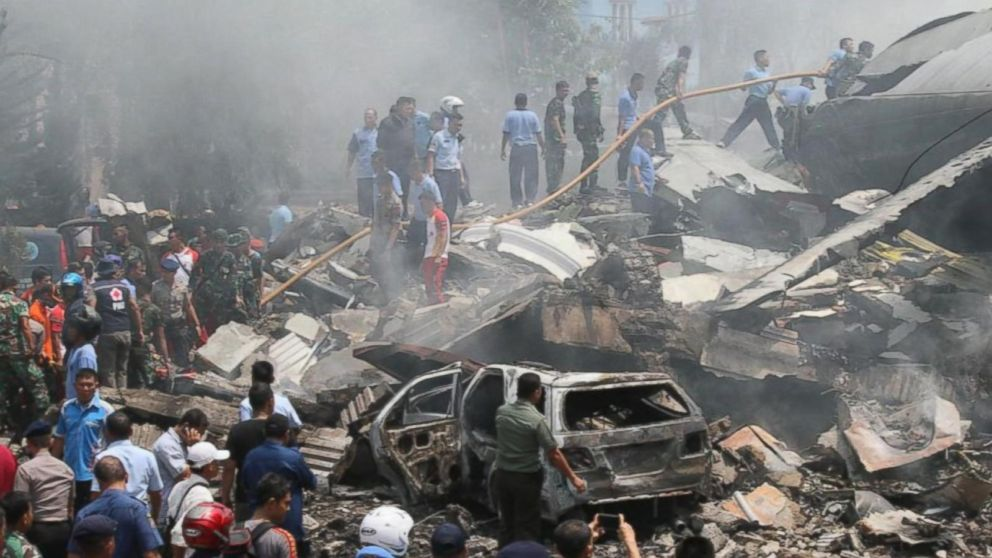 Horrifying Scenes From Indonesia In Desperate Search For Plane Crash Survivors Abc News