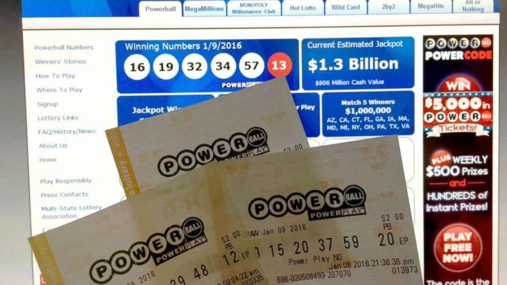 With No Powerball Winners Jackpot Grows To Estimated 1 3 Billion Abc News