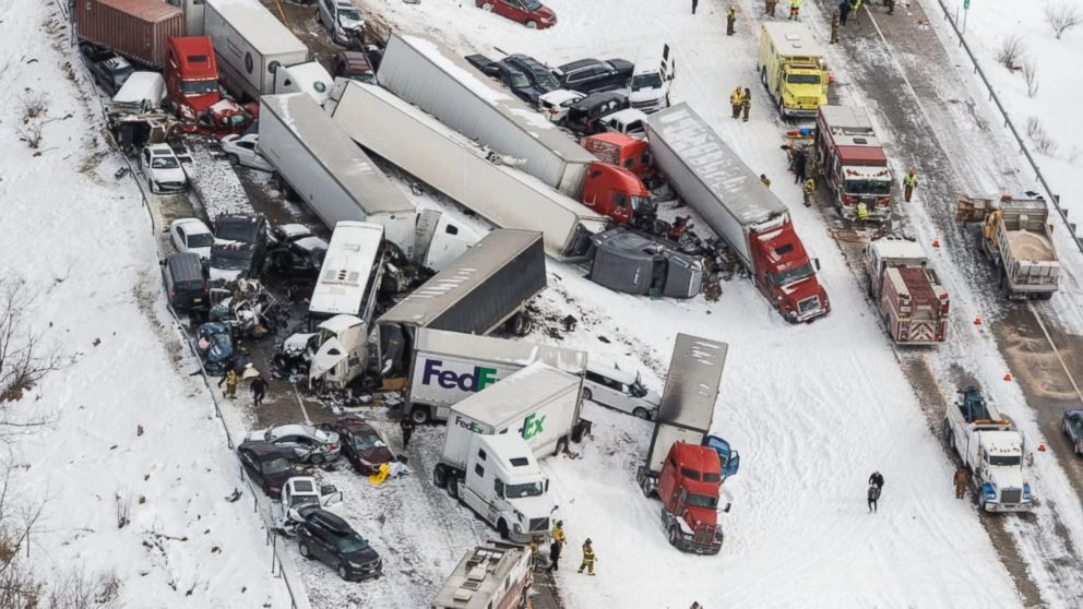 Deadly Whiteout Causes Massive Pile-Up on PA Interstate 78
