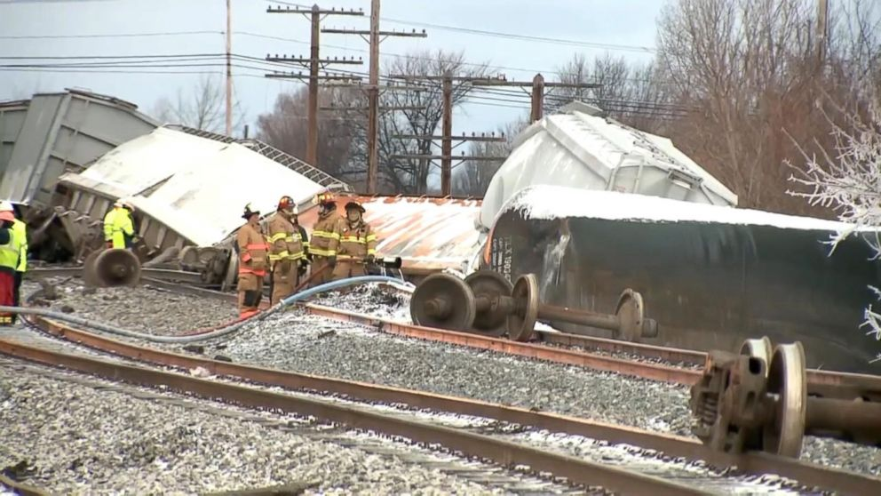 Index: 16-Car Freight Train Derails in Western New York