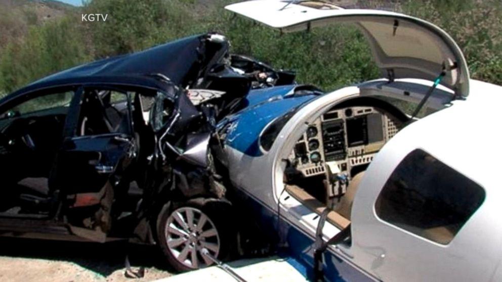 Plane Crashes Into Car on California Highway
