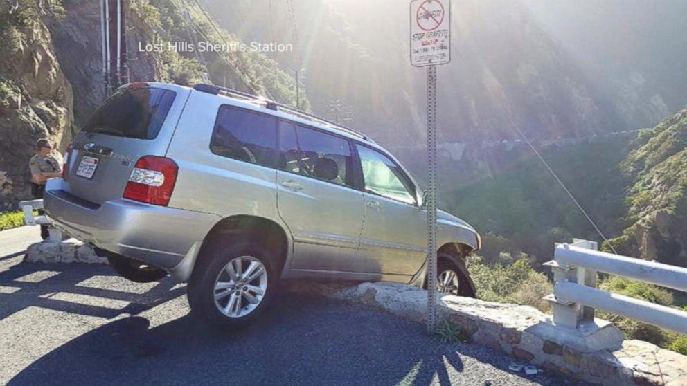 Wild Car Crash In Malibu