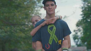 Teacher carries student with cerebral palsy on class hike Video 160427 wn muir 16x9t 384