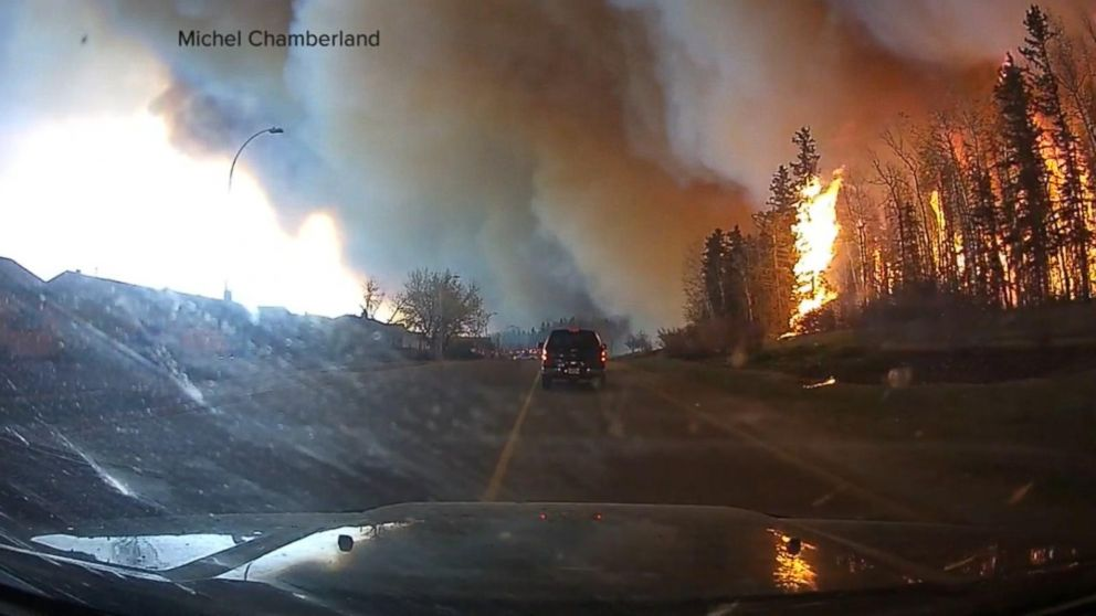 Homes in Alberta Reduced to Rubble in Aftermath of Wildfire, Leaving Thousands Displaced