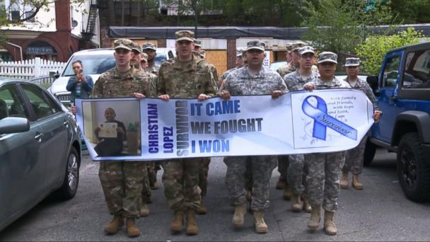 David Muir Reports: US Army Salutes Teen Who Fought Stage 4 Cancer