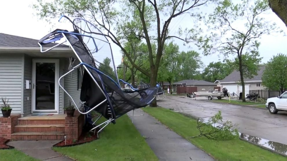 Powerful Winds Snap Trees Damage Homes In North Dakota
