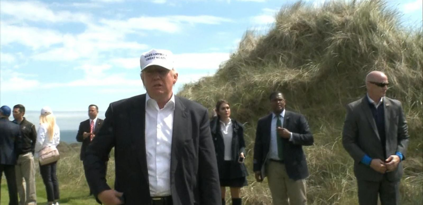 VIDEO: Trump Blasts Clinton at His Newly Re-Opened Golf Course in Scotland