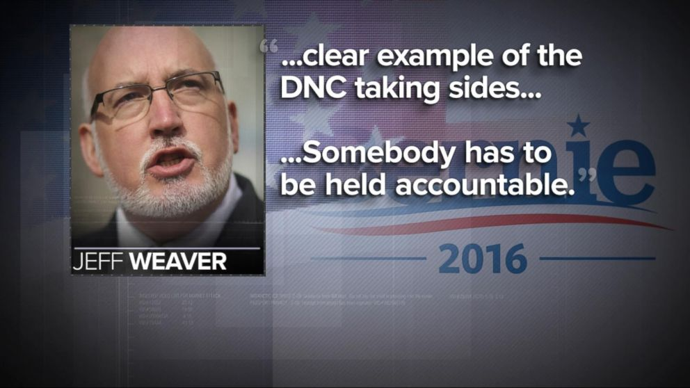 Bernie Sanders Campaign Chief Says Someone Must Be 'Accountable' for What DNC Emails Show
