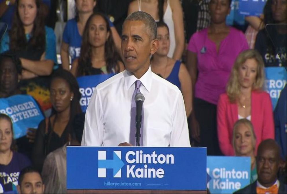 VIDEO: President Obama Campaigns Hard for Hillary Clinton