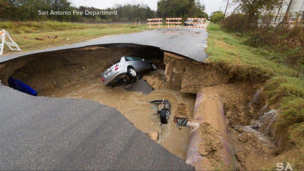 Index: Massive Sinkhole Swallows 2 Cars in San Antonio