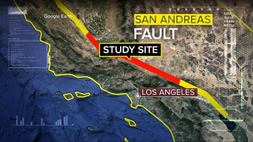 Resultado de imagen para san andreas fault map
