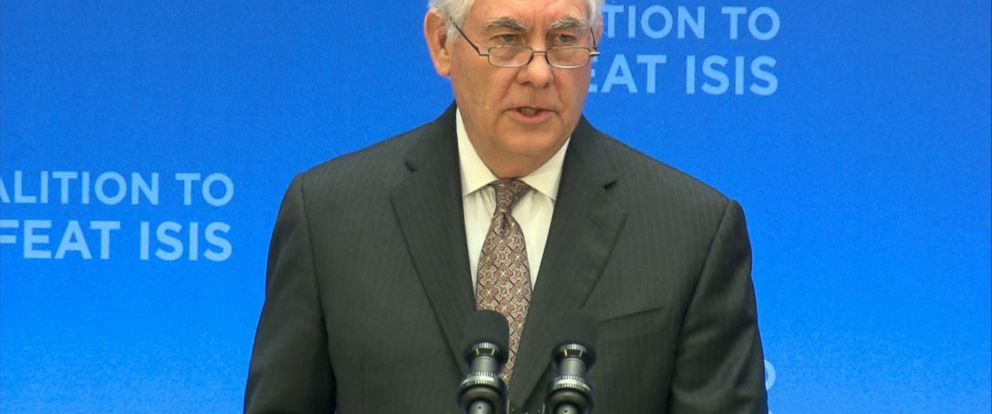 VIDEO: Secretary of State Rex Tillerson praised the progress made against ISIS