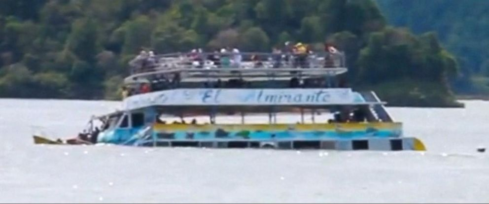 VIDEO: Massive search underway for missing people in sinking ferry boat
