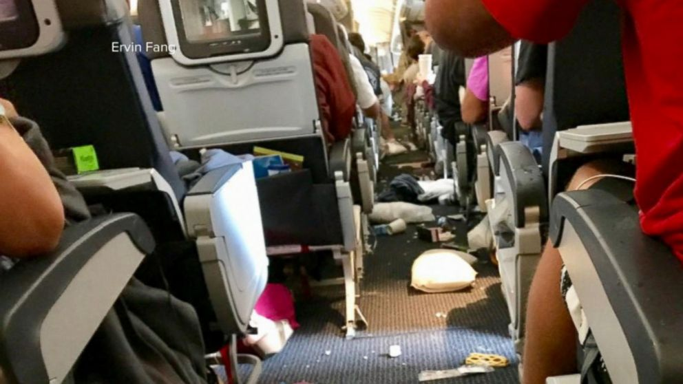 Photos Show American Airlines Plane After Being Rocked By