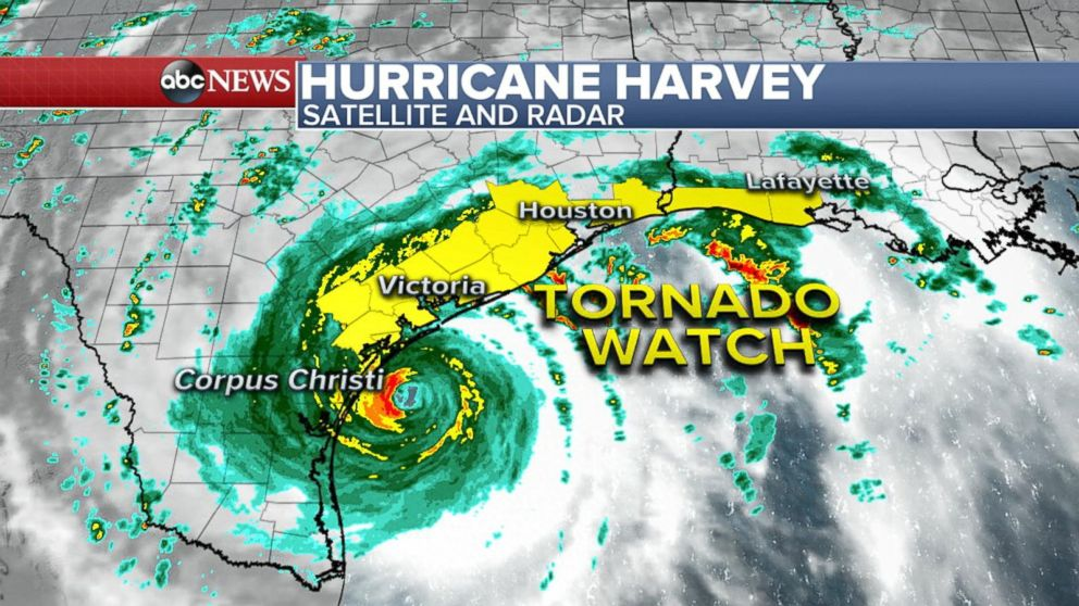 Hurricane Harvey Gains Strength Video Abc News
