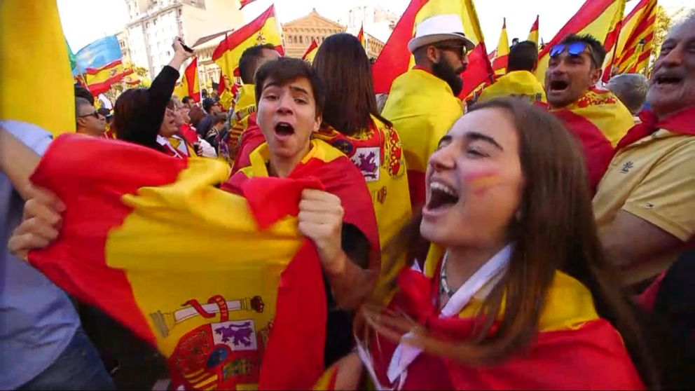 More Than 1 Million People March In Barcelona To Support A Unified Spain Video Abc News