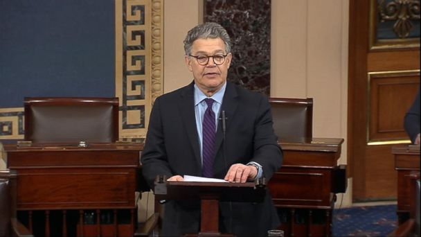 Sen. Al Franken to resign from Senate amid sexual misconduct allegations
