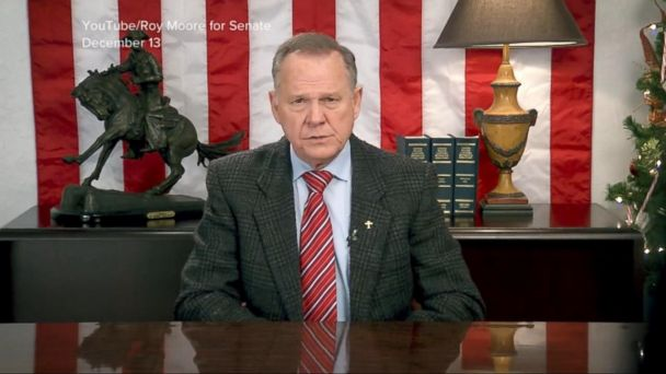 Republican Roy Moore doubles down on voter fraud claims