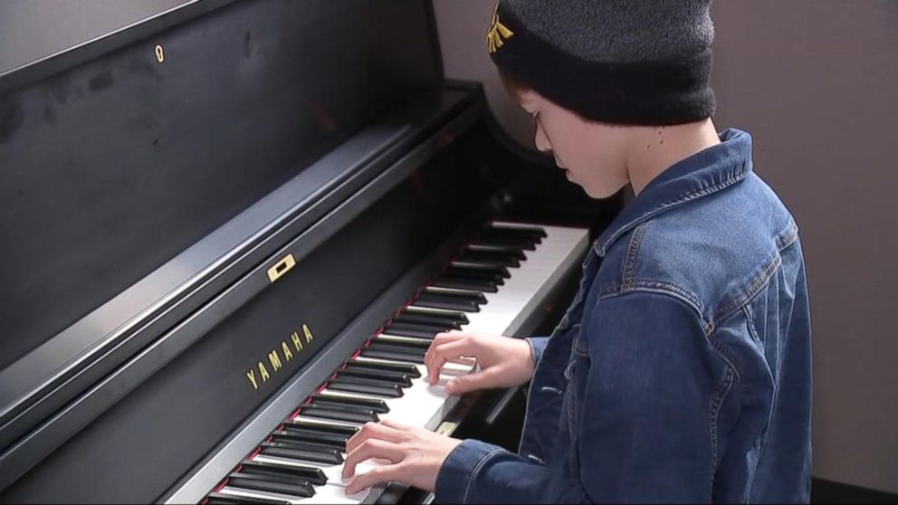 Hurricane Harvey victims are given a brand new family piano