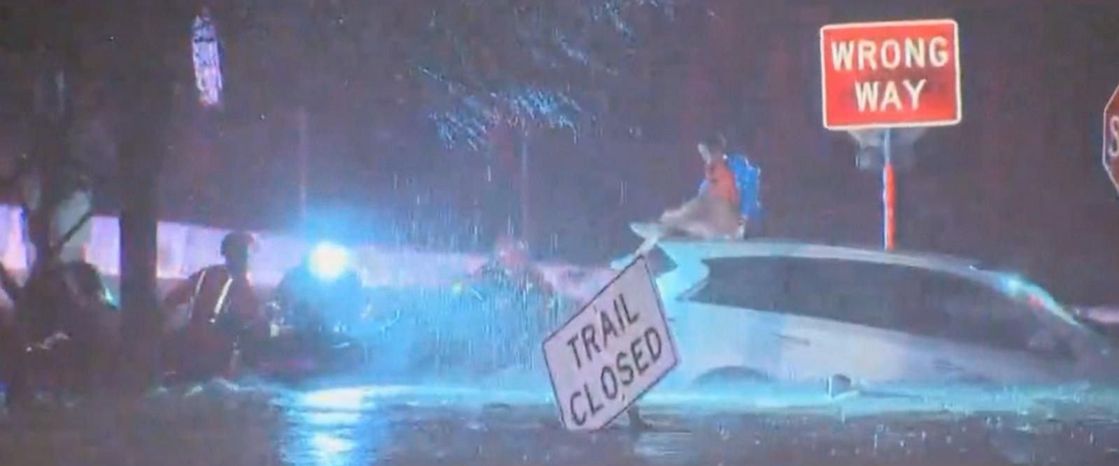 VIDEO: Massive storm causes flooding rains and water rescues in Dallas, Texas