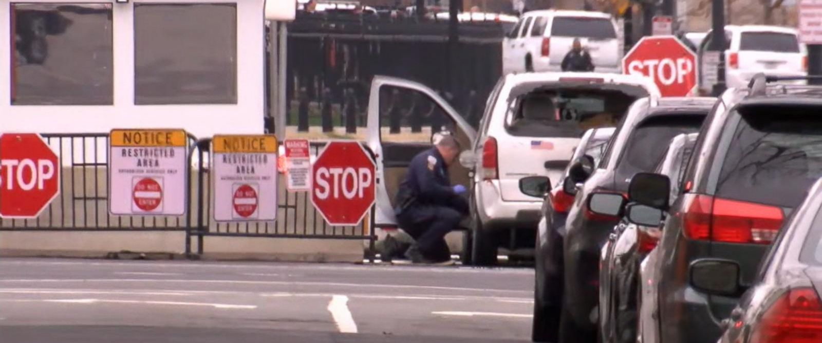 VIDEO: White House on lockdown after woman drives vehicle into a security barrier