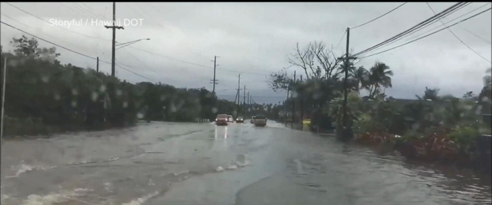 VIDEO: Torrential rains spark flash-flood watches throughout Hawaii