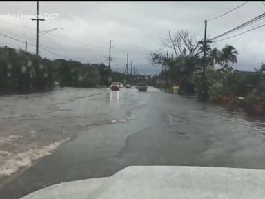 WATCH: Torrential rains spark flash-flood watches throughout Hawaii