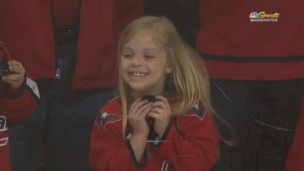 Viral video captures 6-year-old scoring puck from Washington Capitals player