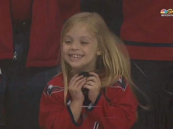 WATCH:  Viral video captures 6-year-old scoring puck from Washington Capitals player