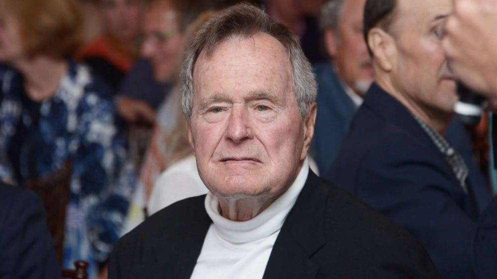 President George H.W. Bush hospitalized with blood infection
