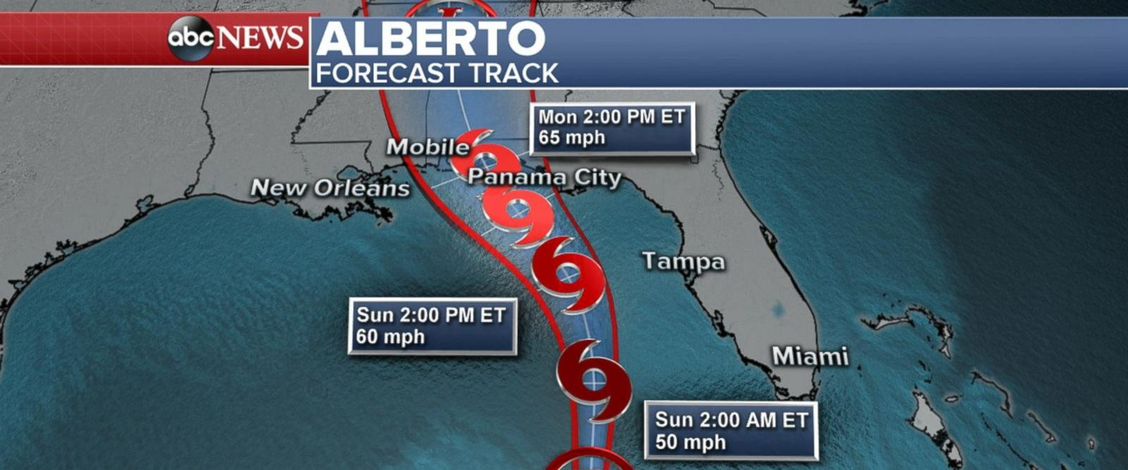 VIDEO: Subtropical Storm Alberto is picking up speed and getting stronger