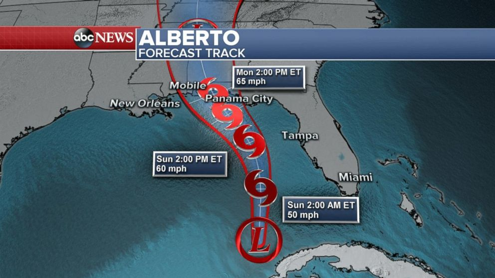 Image result for Millions in the path of subtropical storm Alberto