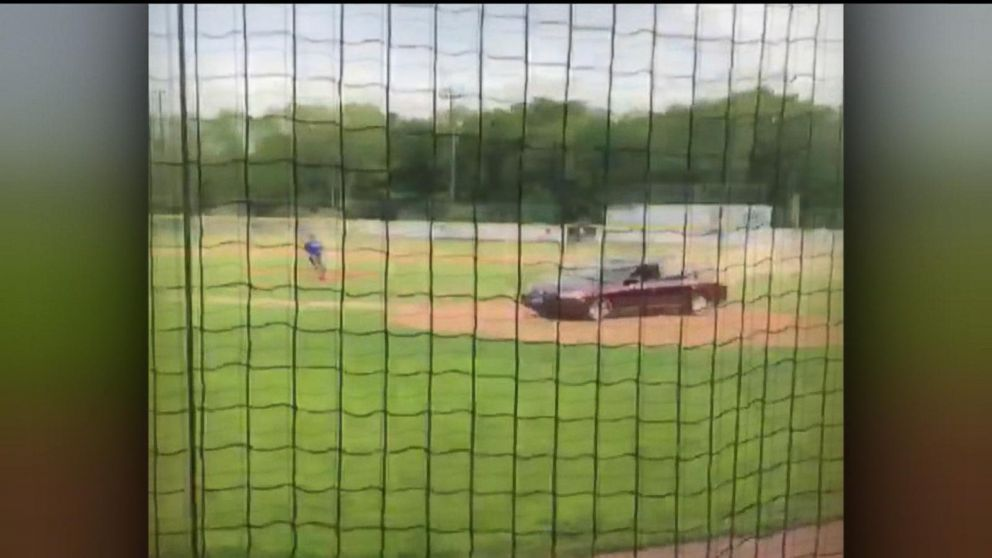 An out-of-control driver swerved into a little league baseball game in Maine