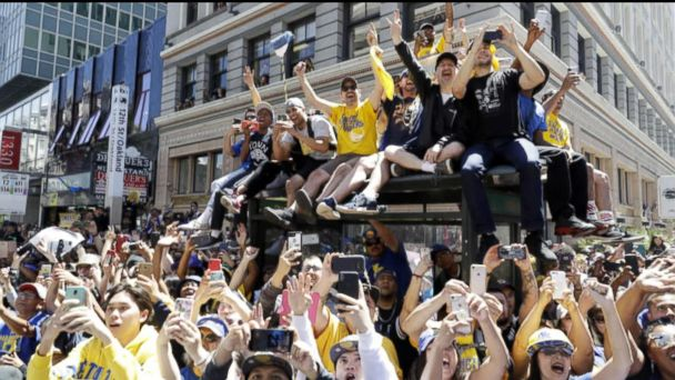 Warriors and Capitals hold victory parades
