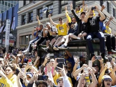 WATCH: Warriors and Capitals hold victory parades