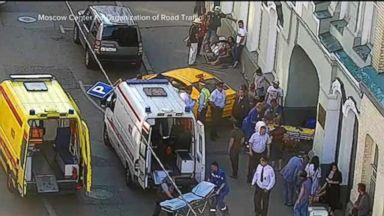 Speeding taxi runs into crowd of tourists on Moscow sidewalk Video 180616 wn macfarlane3 hpMain 16x9 384