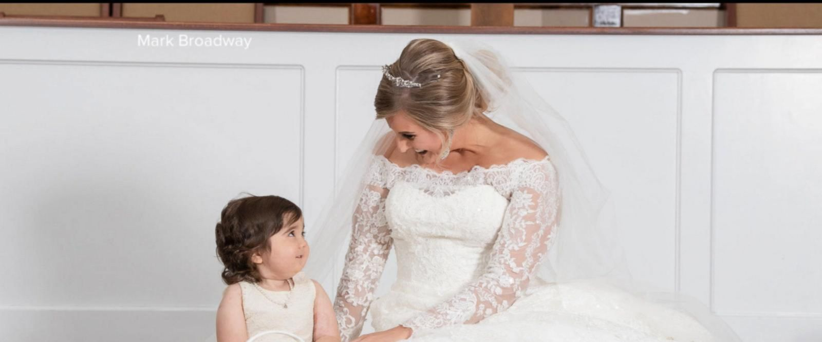 VIDEO: Toddler is flower girl at bone marrow donor's wedding