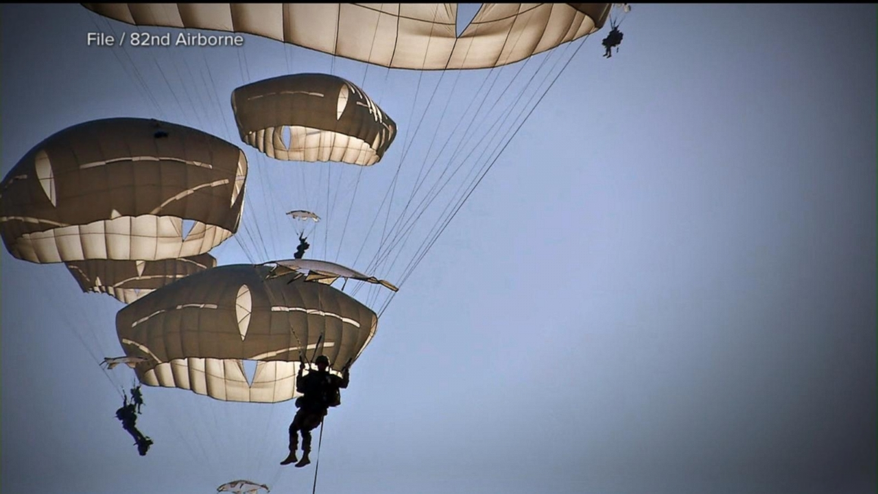 VIDEO: 3 generations of paratroopers proudly make history in the sky